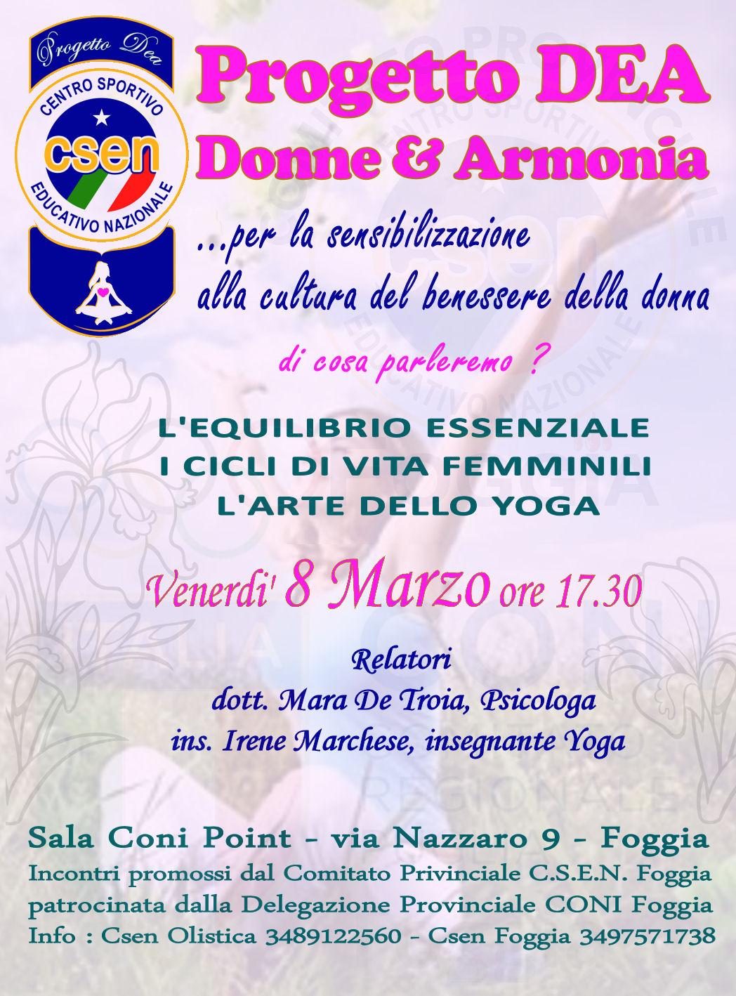 Progetto Dea : Donne & Armonia
