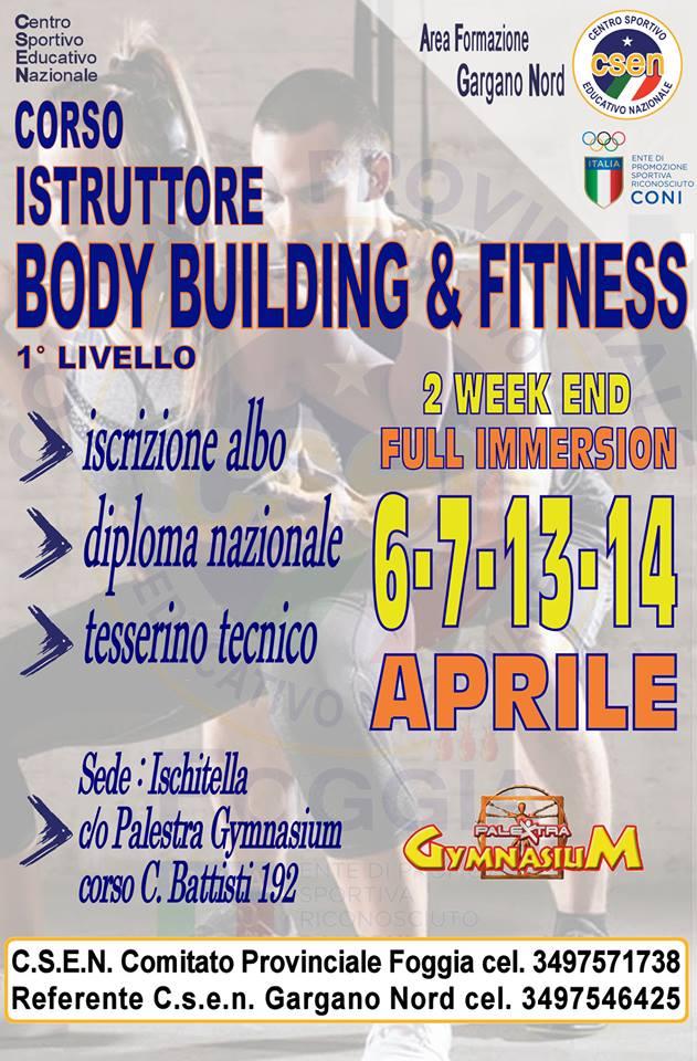 Corso istruttore Body Building & Fitness