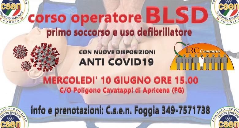 corso BLSD – primo soccorso e defibrillatore – Apricena (FG)